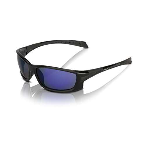 XLC Lunettes de soleil Nassau SG–C11Cadre Noir Verres Bleu (1pièce)