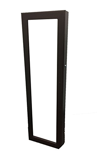 Antique Chinese Armoire (Locking Jewelry Armoire with Mirror - Wall Mount or Hanging Over the Door by Perfect Life Ideas - COLOR: Dark Espresso Brown)