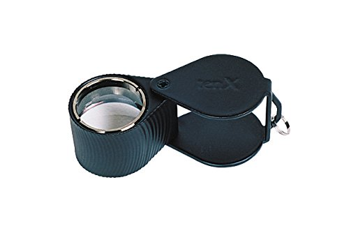 18 MM – 10X Triplet Diamond Cut Black Eye Loupe Jewelry Making Metal Inspection Magnifier Tool
