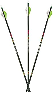 Carbon Express Maxima XRZ Archery Hunting Arrow with Red Zone Technology – 6 Pack Fletched Arrow