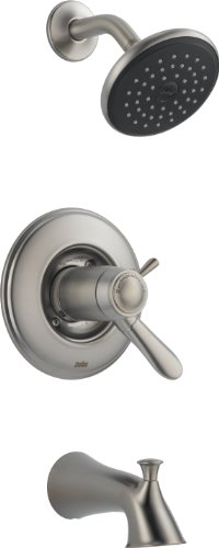 Delta T17T438-SS Lahara Tempassure 17T Series Tub and Shower Trim, Stainless