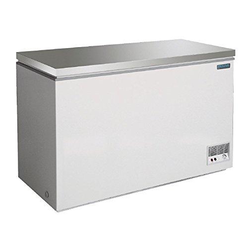 Congelador arcón 390L Polar con tapa de acero inoxidable sólida e ...