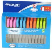 5'' School Pack of Kids Scissors with Anti-Microbial Protection, Blunt, Assorted Colors by Westcott