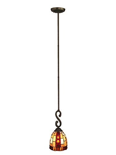 (Springdale FTM10018 Baroque Tiffany Mini Pendant, Antique Bronze)