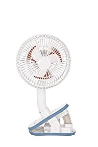 Diono Stroller Fan, Clip-On Portable Cooling Fan for Child Comfort, White