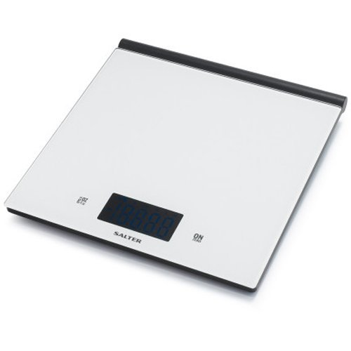 Salter White Ultra-Slim Glass Scale