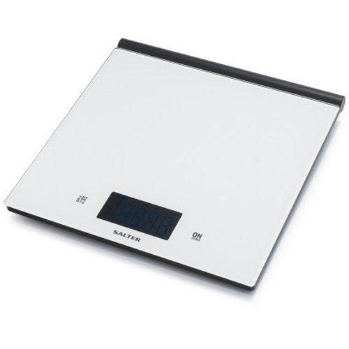 Salter White Ultra-Slim Glass Scale