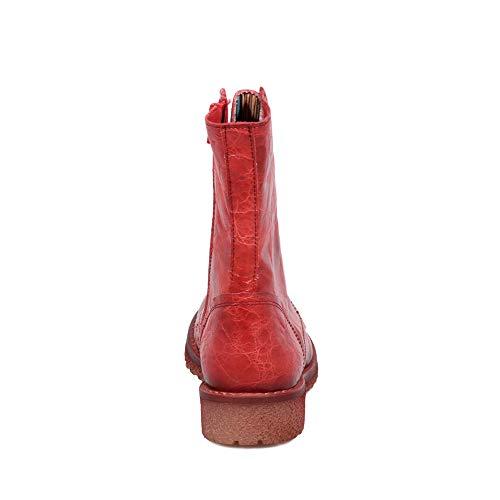 Donna Rosso amp; Innamorarsi Com Scarpe Pelle Genuina Caster Cowboy In B501 Felmini Stivali Biker nO5ZxgO8