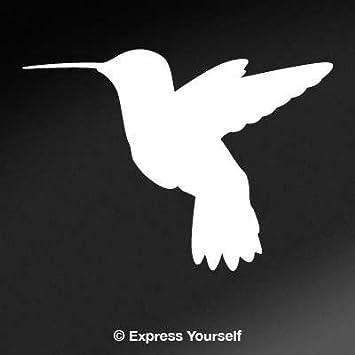 Amazoncom Hummingbird Silhouette White Image Facing As Shown - Window alert hummingbird decals amazon