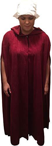 Block Buster Costumes Women's Deluxe Handmaiden Handmaid Apocalyptic Dystopian Robe Costume Bundle