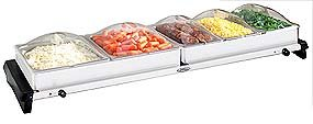 NBS%2D5SP Professional Grand Buffet Server W %2F Stainless Base %26 Plastic Lids