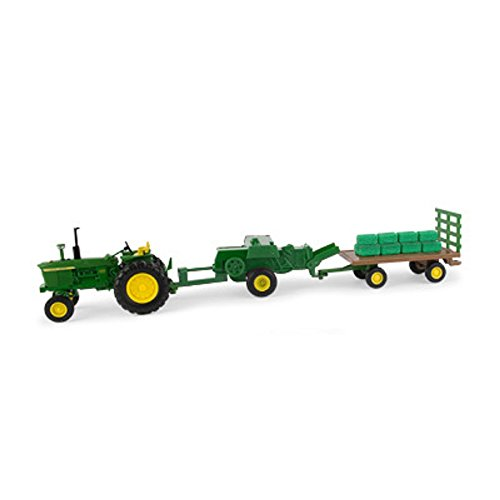John Deere 1/32 Haying Set - Tractor, Baler and Wagon