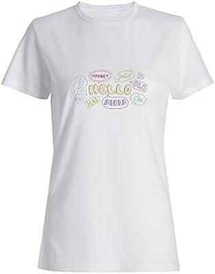 My Custom Style - Camiseta para Mujer, Color Blanco, 100% algodón, 155 g Blanco Scuola - Hello School S-Bianca: Amazon.es: Hogar