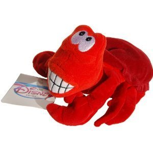 Sebastian the Crab Little Mermaid Disney Mini Bean Bag Plush