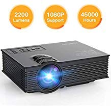 APEMAN Upgraded Mini Projector Full HD Pico Video Portable Projector 2200 Lumens Home Theater LCD Support 1080P HDMI VGA USB...