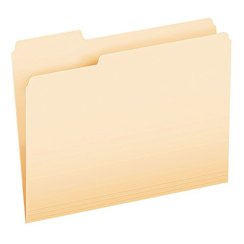 Cut File Folder Letter - Pendaflex Essentials File Folders, Letter Size, 1/3 Cut, Manila, 250 per Box (752250)