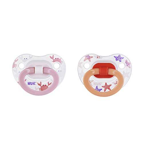Nuk Pacifier (NUK Orthodontic Pacifiers, Girl, 0-6 Months, 2-Pack)