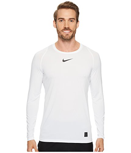 Nike Men's Pro Low-Rise Fitted Top (White/Black/Black, Medium)