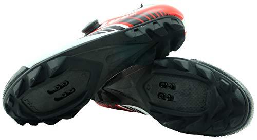 Ciclismo 17 Y Suela Carbono Alta De 4mm Mtb Una Precisión Sujeción Para Luck Rojo Zapatillas 0 Con Rotativo Cierre Pro PXwEn