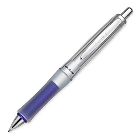 Pilot Dr. Grip Center of Gravity Retractable Ball Point Pen, Medium Point, Blue Grip, Black Ink, Single Pen - Barrel Ball Pen