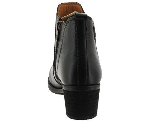 Femme Bottillon Lisse Noir Black Andorra Pikolinos 913 8697 qz8t7