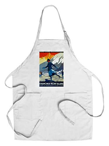 Chamonix-Mont Blanc Vintage Poster (Cotton/Polyester Chef's Apron)