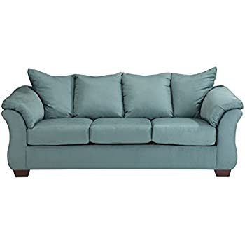 Marvelous Ashley Furniture Signature Design Darcy Sofa 3 Seats Ultra Soft Upholstery Contemporary Sky Download Free Architecture Designs Sospemadebymaigaardcom