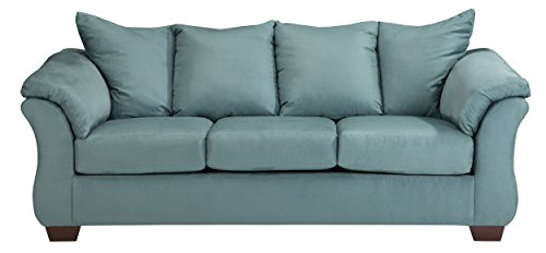 Ashley Furniture Signature Design - Darcy Sofa - 3 Seats - Ultra Soft Upholstery - Contemporary - Sky by Signature Design by Ashley
