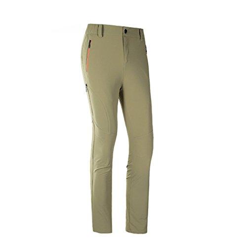 [Modern Fantasy Womens Quick-dry Elasticity Outdoor Sport Pants Size US XXS Khaki] (Stretch Moleskin Bootcut Pants)