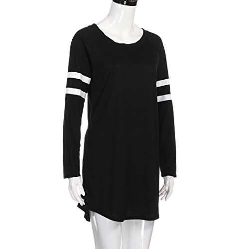 078ad659b1e HANYI Women Girls Plus Size Comfy Swing Long Sleeve Tunic Tops Loose Basic  Casual Shirt at Amazon Women s Clothing store