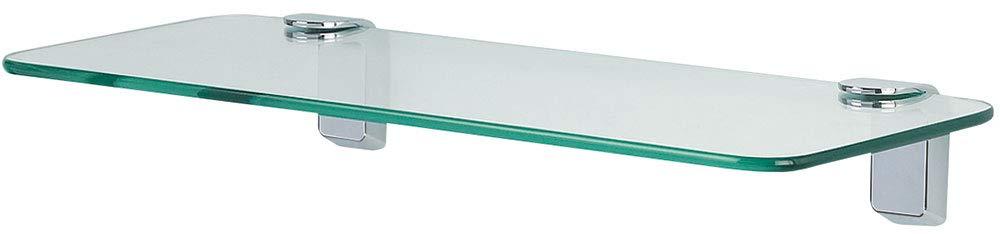 Spirella Wand-Glasablage Max Light Badezimmerablage Ablage Wandablage fü r das Badezimmer aus Glas und Edelstahl 40cm - zum kleben und bohren 10.11889