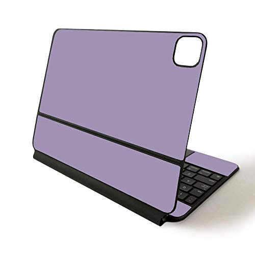 MightySkins Skin for Apple Magic Keyboard for iPad Pro 11-inch (2020) - Sushi | Protective, Durable, and Unique Vinyl Decal wrap Cover, Solid Lavender