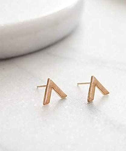 Little Chevron Stud Earrings Tiny V Stud Earrings Minimalist Earrings Gold V Earrings