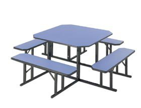 Gentil Barricks Manufacturing Co., Square And Round Lunchroom Tables, Hnbr 60,  Description