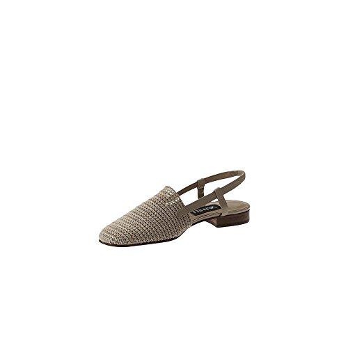 VANELi Womens Janet Leather Square Toe Casual Slingback, Beige Crochet, Size 9.5 ()