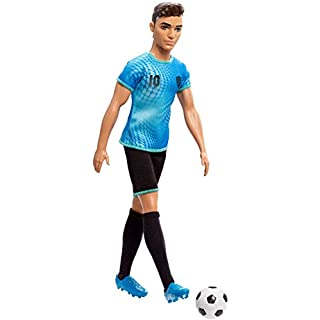 Ken Soccer Player Doll, Wearing Soccer Uniform Accessorized with Soccer Socks and Cleats