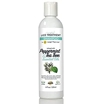 Natural Lice Shampoo and Treatment - Peppermint & Tea Tree - 100% Effective After One