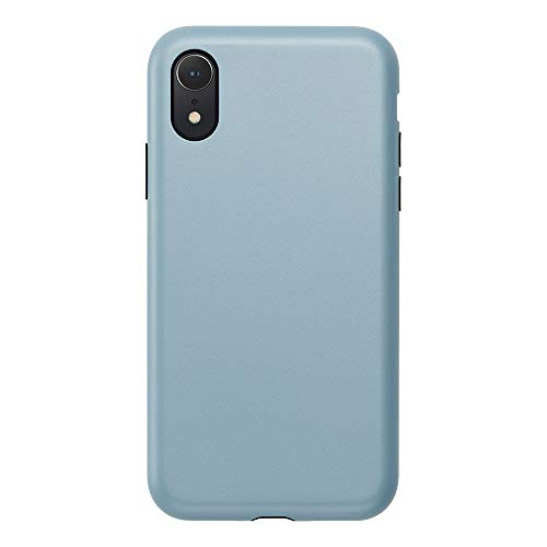 iPhone XR Case, Smooth Touch Hybrid Case for iPhone XR New iPhone Military-Grade Shock Absorbing Stylish Simple Matte Coating Smartphone Case (Stone Blue)