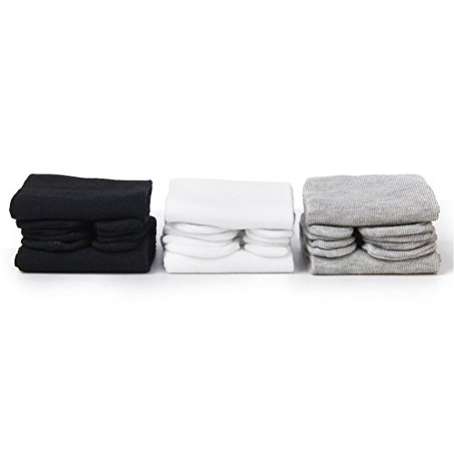 ROSENICE Elastic Cotton Tabi Toe Socks 3 Pairs(White Grey Black)]()