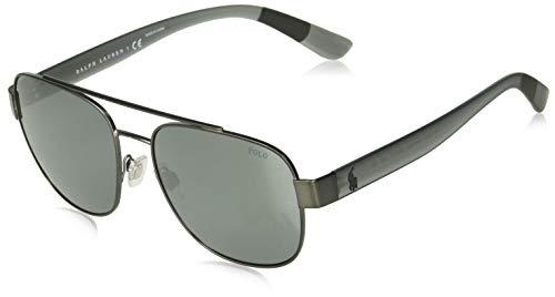 Oakley Men's OO9039 Straight Jacket Rectangular Sunglasses, Matte Black/Grey Polarized, 61 mm (Straight Jacket Oakley Sunglasses)