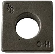 Inside Diameter 5//8 Square Beveled Malleable Iron Washer Plain Finish 5//8 inches Quantity: 360 pcs