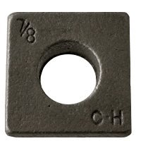 7/8'' Square Beveled Malleable Iron Washer Plain Finish (Quantity: 135 pcs) - Inside Diameter: 7/8'' inches by Newport Fasteners