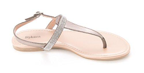 Style & Co. - Sandalias de vestir para mujer gris