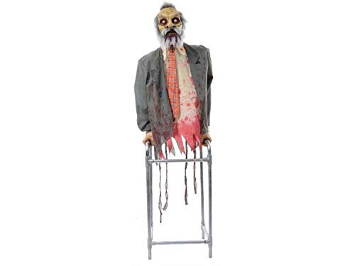 Animated Limbless Jim Zombie Walker Prop Horror Haunted Halloween Animatronic by Tru Sales ()
