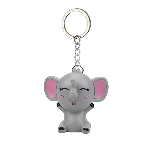 Pearl Mini Bronze Pendant - Yeefant Mini Cute Cartoon Elephant Keychain with Led Flashing and Sound Small Kids Toy Keychain Accessaries Creative Gift