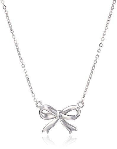 Sterling Silver Bow Necklace 18