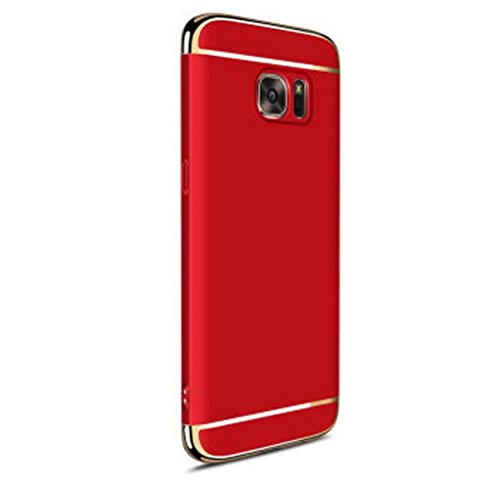 Coohole New Fashion Electroplate Hard Shockproof Case Cover for Samsung (Red, Galaxy S7 Edge)