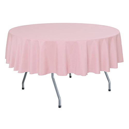 Ultimate Textile (10 Pack) 72-Inch Round Polyester Linen Tablecloth - for Wedding, Restaurant or Banquet use, Light Pink by Ultimate Textile