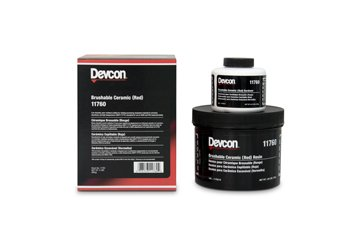 DEVCON Brushable Ceramic -Red - MODEL : 11760 Container Size: 2 lbs. by Devcon