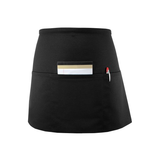 (Fame Adult Long 3 Pocket Waist Apron (Black-O/S) F9L-83398)